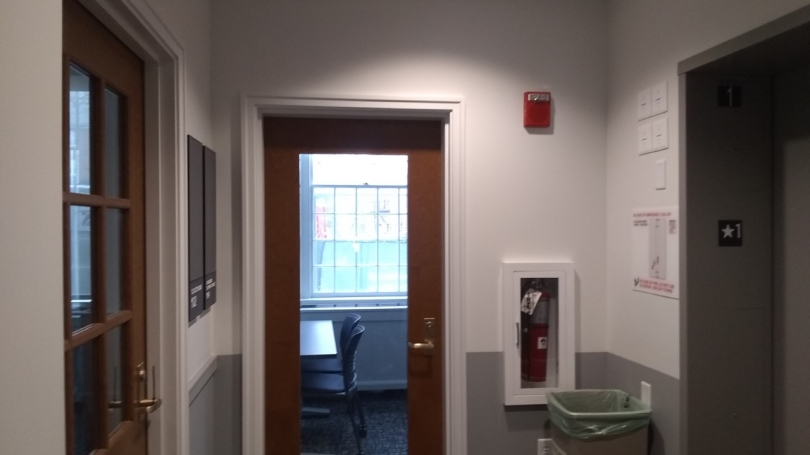 Elevator and study space