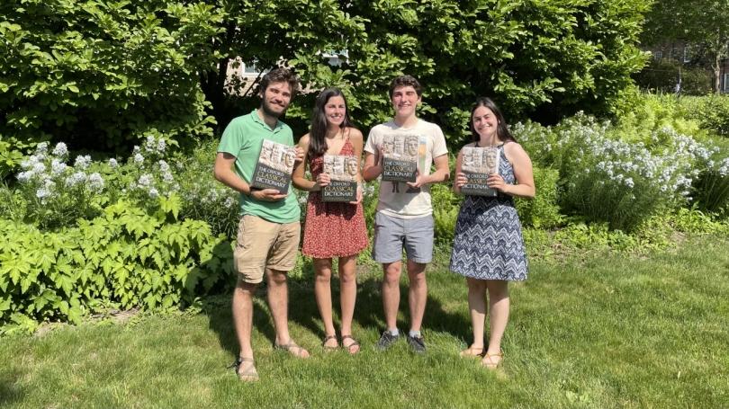 Honors graduates Kevin Donohue '21, Sophia Kocher '21, Clay Howard '21, and Naomi Meron '21