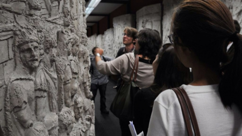 Students explore the reliefs on Trajan's Column