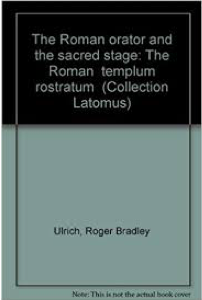 Cover of The Roman Orator and the Sacred Stage
